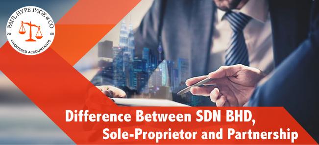 SDN BHD, sole-proprietor and partnership